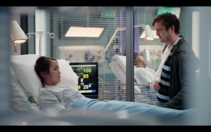 Linh Huynh and Michael Grady-Hall in Casualty.
