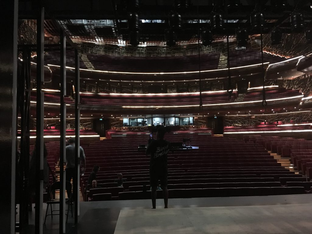 Dubai Opera from the stage.
